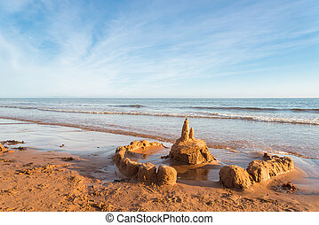 Sand Castle (Green Gables Shore, Prince Edward Island ,...