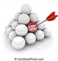 cliente, Centric, flecha, Apuntar, misión, meta,...