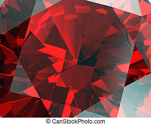 Background of jewelry gemstone Facet Ruby