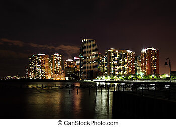 High-rise apartment building in Hoboken New Jersey USA