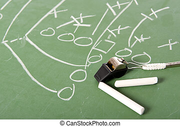 American Football Coaches Items - A football play diagram...