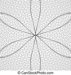 Abstract Wire Net Structure Background Vector