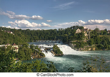 Rhinefall - Rhinefall, the biggest European waterfall,...