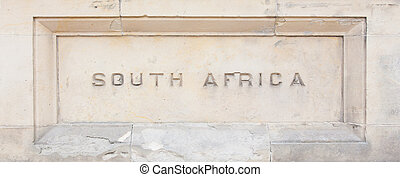 """""""South Africa"""" carved in granite"""
