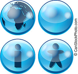 glossy business sphere icon