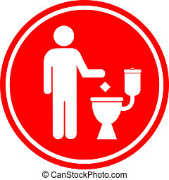 Do not litter in toilet sign