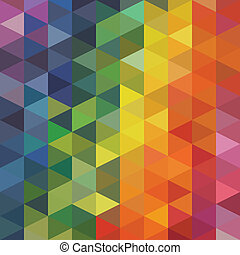 Triangles Background - Vector Abstract Colorful Triangles...
