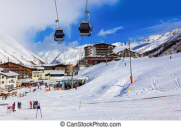 Mountain ski resort Obergurgl Austria - nature and sport...
