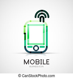 Mobile phone icon company logo, business concept - Vector...