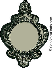 classic fancy mirror emblem - classic fancy mirror frame...