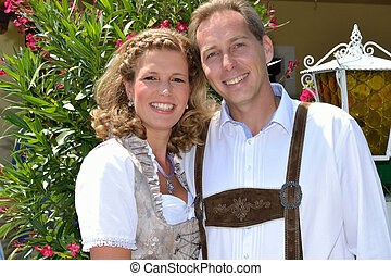 Paar in Tracht - Couple in traditional costume