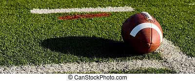 American Football on Field