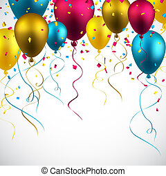Celebrate colorful background with balloons. - Celebration...