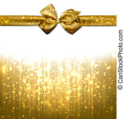 Christmas golden abstract background - Golden winter...