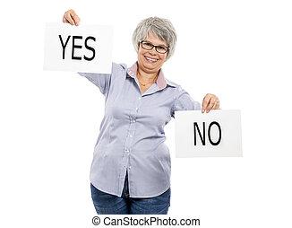 Yes or No choice