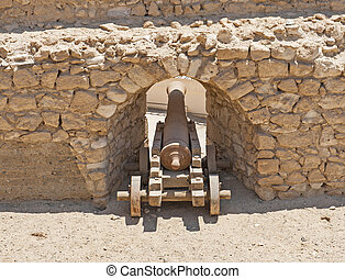 Old canons at a roman fort - Old abandoned napoleonic canons...
