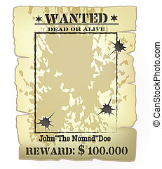 western wanted poster - Vector vintage western wanted poster...