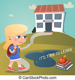 Its time to learn vector illustration with a young girl...