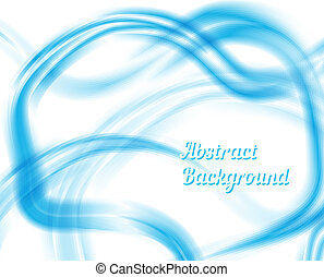 Blue and White Waves Abstract Design Used for Graphic...