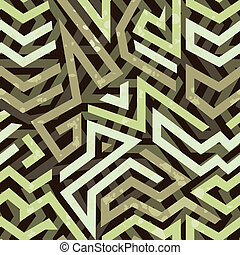 Graffiti grunge geometric seamless pattern with bold...