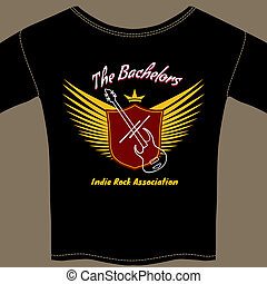 Indie rock t-shirt - Indie rock association t-shirt vector...