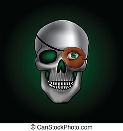skull with one eye