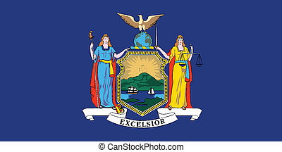 New York State Flag - The flag of the state of New York