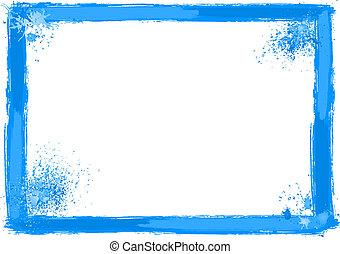 brush stroke frame - vector illustration of a brush stroke...