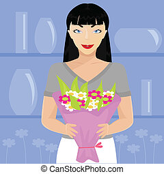 Florist - vector illustration of florist