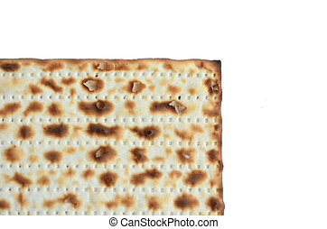 Matza - Passover Jewish Holiday - leavened bread, matza on...
