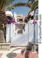 gate entrance to residential house on Tenerife - Typical...