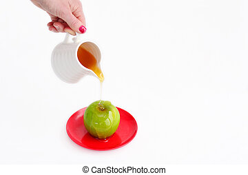 Apples and Honey - Rosh Hashanah Jewish holiday - Jewish...