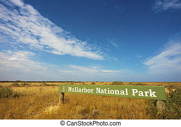 Nullarbor National Park - The Nullarbor National Park sign...