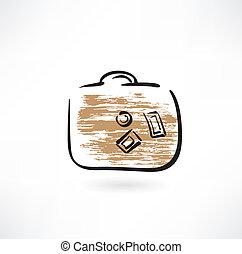 baggage grunge icon