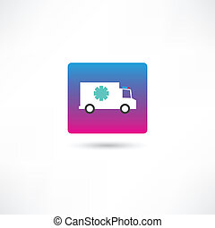 truck with cold icon