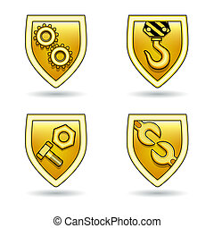 set of various industrial icons