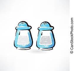 salt and pepper grunge icon