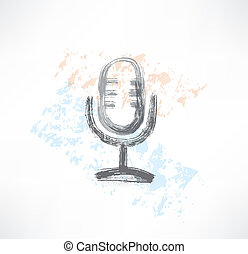 microphone grunge icon