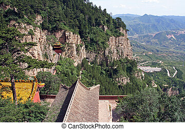 heng shan monastery in Shanxi Province near Datong, China -...