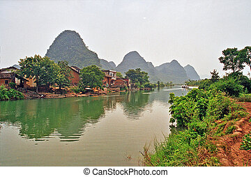 Ancient Chinese village - photo of generic chinese landscape...