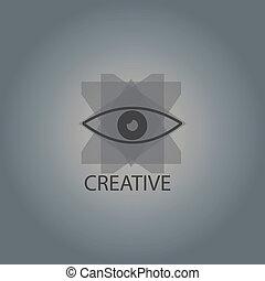 Creative eye simbol