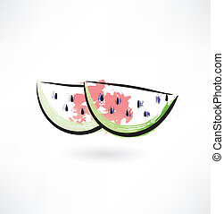 watermelon grunge icon
