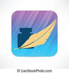 feather and ink icon