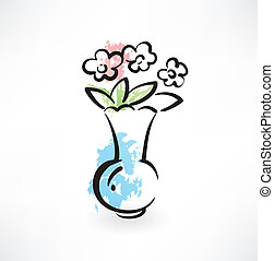 flowers in the vase icon