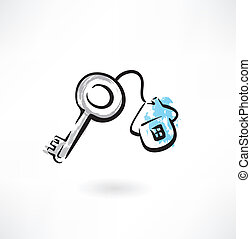 house key grunge icon