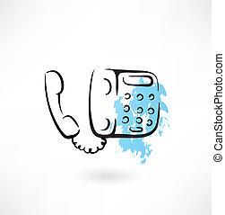 telephone grunge icon