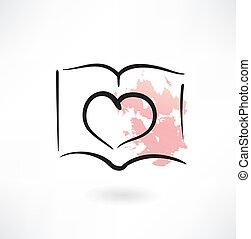 heart grunge icon