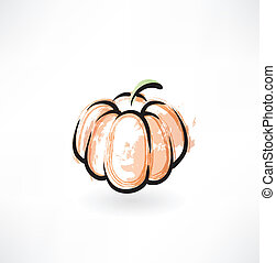pumpkin grunge icon