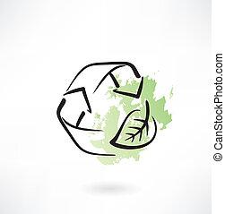 eco cycling icon