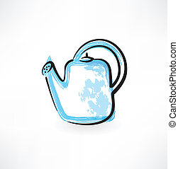 watering can grunge icon